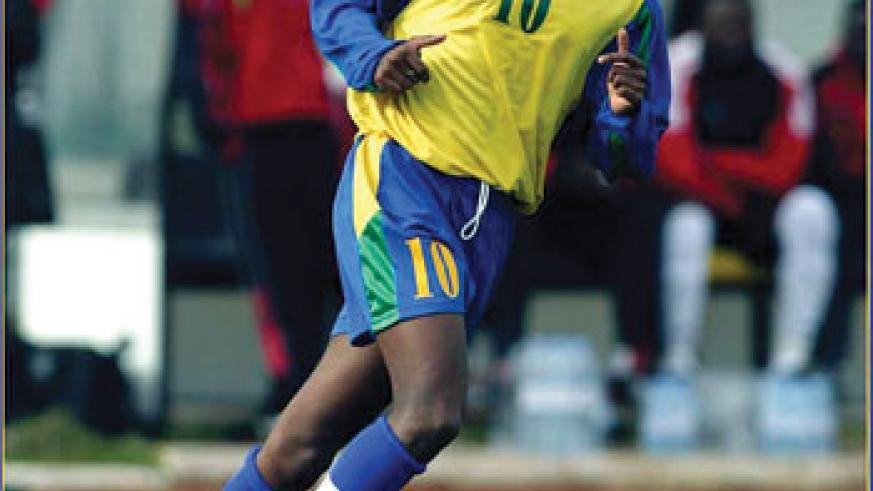 Jimmy Gatete was the star striker when Amavubi qualified for  the 2004  Nations Cup.