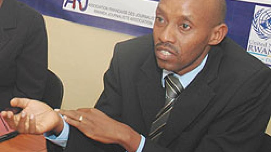 Jean Bosco Rushingabigwi, one of those involved in preparing a code of conduct for journalists