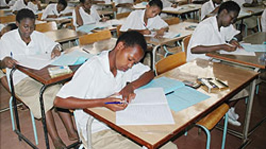 Students sit for a national exams. RNEC will soon change the examination calendar (File Photo)