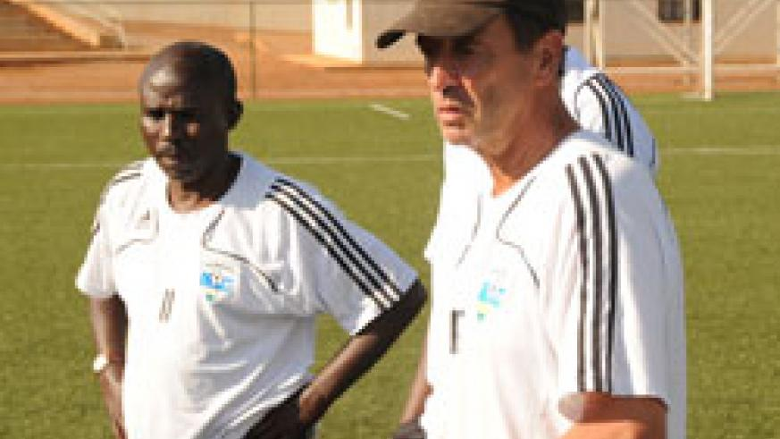 Kanamugire (left) has worked very closely with Richard Tardy (right) to put the junior wasps to where it is. (File photo)