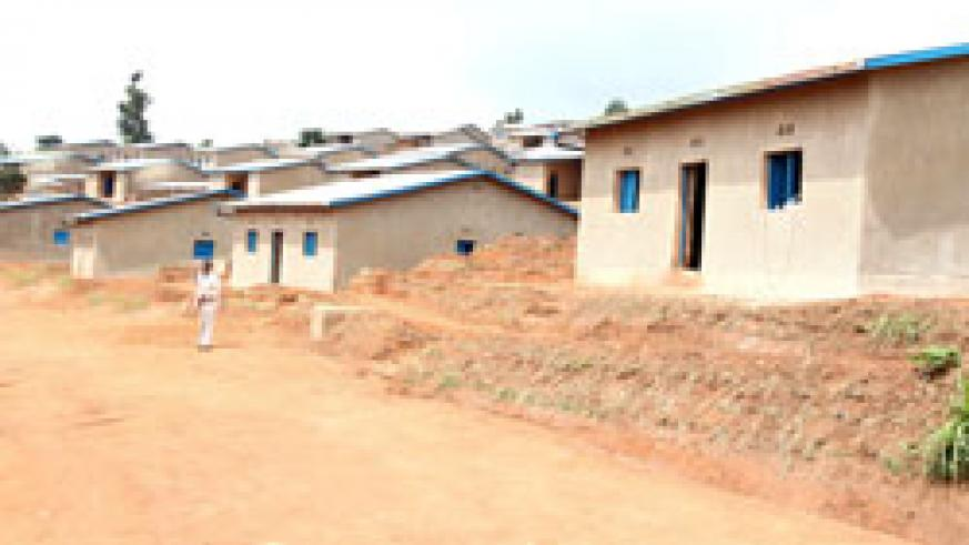 The newly commissioned houses built by REMA and Gicumbi District for poor residents. (Photo T Kisambila)