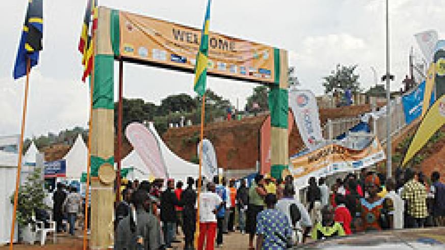 Multitudes of exhibition goers throng the expo grounds in Gikondo, during last year's international trade fair. Organisers say this year's expo will be more than successful (File Photo)