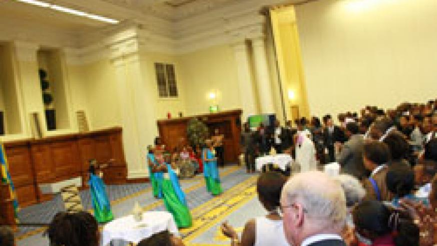 Rwandans and friends of Rwanda were treated to cultural dance as they celebrated the 17th anniversary of the Liberation in London. (Courtesy Photo)