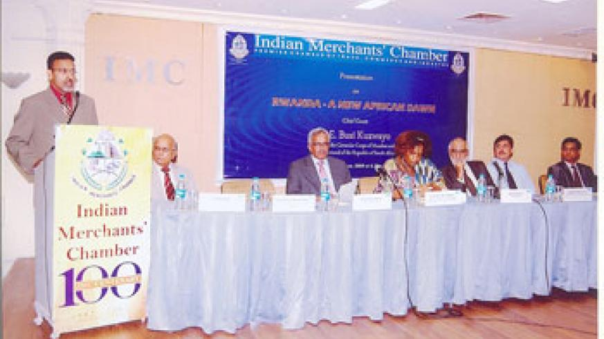 Members of Indian Merchants' Chamber attending a seminar dubbed  Rwanda - A New African Dawn