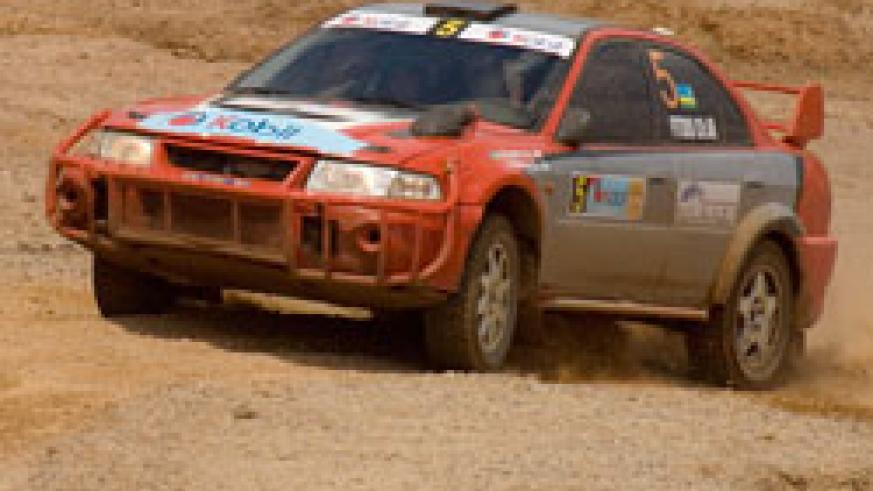 Fitidis powers his machine during the 2007 Irushanwa rally. The ace driver has registered for next week's KCB Pearl of Africa Uganda rally. (File photo)