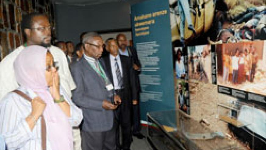 Delegates attending a conference on Somalia visited the genocide museum at Kigali Memorial centre. (Photo J Mbanda)