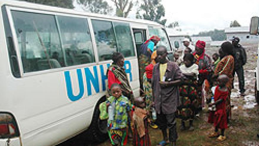 Rwandans return from DRC. Government has emphasised it will not force refugees to come home (File Photo)
