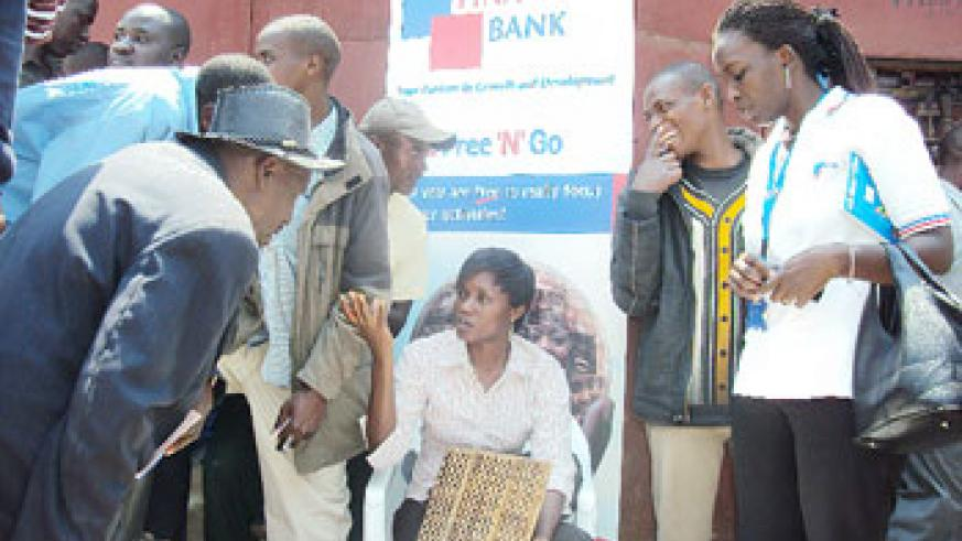 Kabaya traders register with Fina Bank. (Photo: D. Sabiiti)