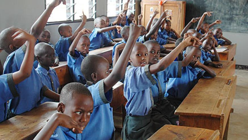 Rwandan children have immensely benefited from universal primary education. (File Photo)