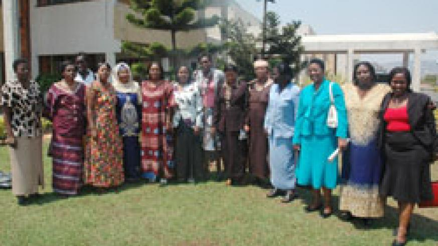 Women MPs after one of the sessions in parliament. A DfID report has lauded Rwanda's women emancipation efforts (File Photo)