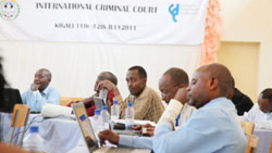 Journalists during the workshop on the functions of the  International Criminal Court (Photo T.Kisambira)