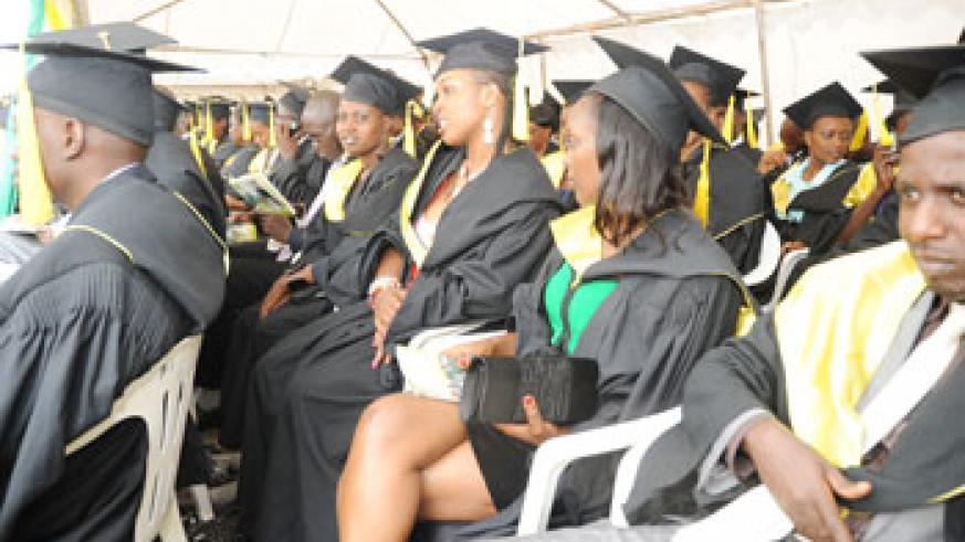 Thousands graduate each year in Rwanda's higher institutions of learning(File Photo)