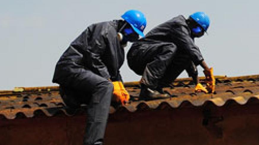 The Police will participate in the national exercise to dispose Asbestos roofing. (courtesy Photo)