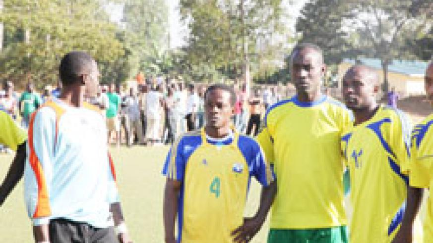 Amavubi players during one of their training sessions last month. (File Photo)