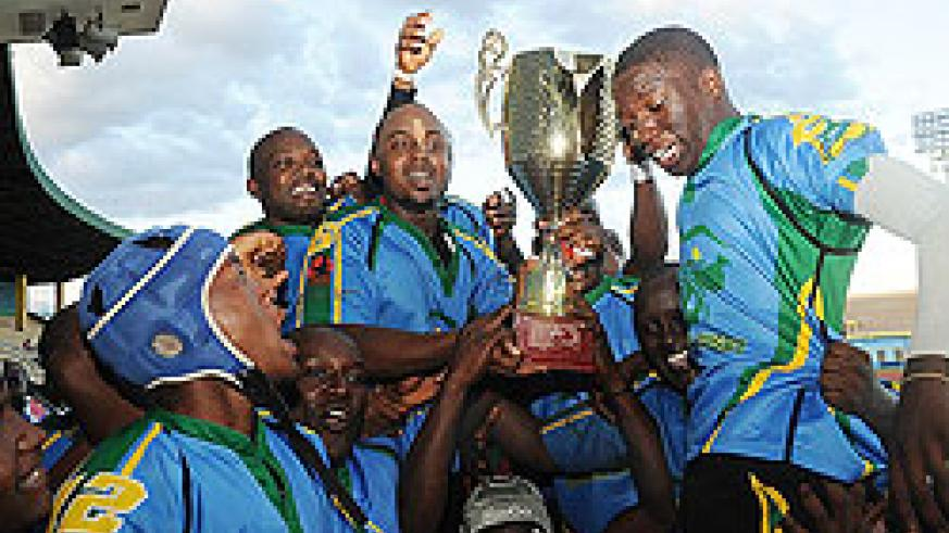 Silverbacks celebrate shortly after winning last year's CAR 15s tournament. (File Photo)