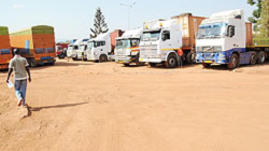 One of the parking yards in Magerwa. Traders want the company to improve its infrastructure. (Photo by J.Mbanda)