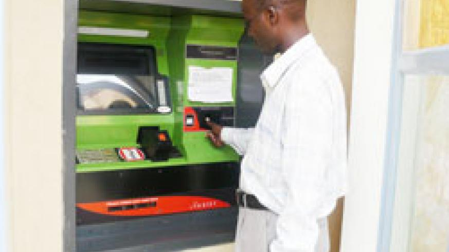 An Automated Teller Machine in Kigali.