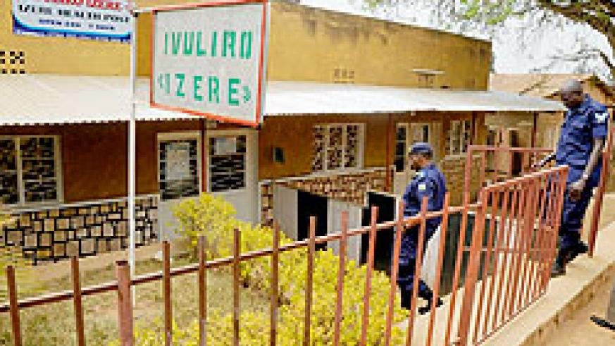 Police Officers arrive at the Izere Health Post yesterday. The proprietor of the facility is said to have carried out an illegal abortion (Photo J Mbanda)