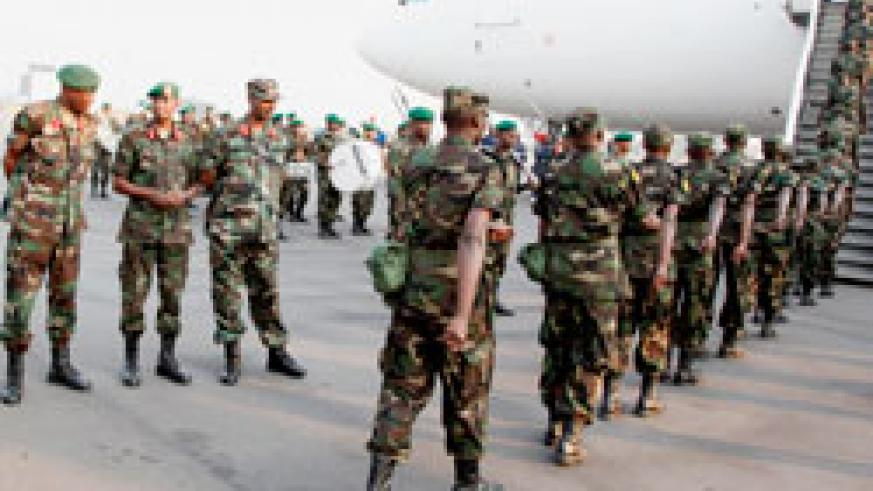 RDF peacekeepers left for Sudan, yesterday morning, to begin a nine-month mission in the troubled region of Darfur. (Photo: The new Times/Timothy Kisambira.)