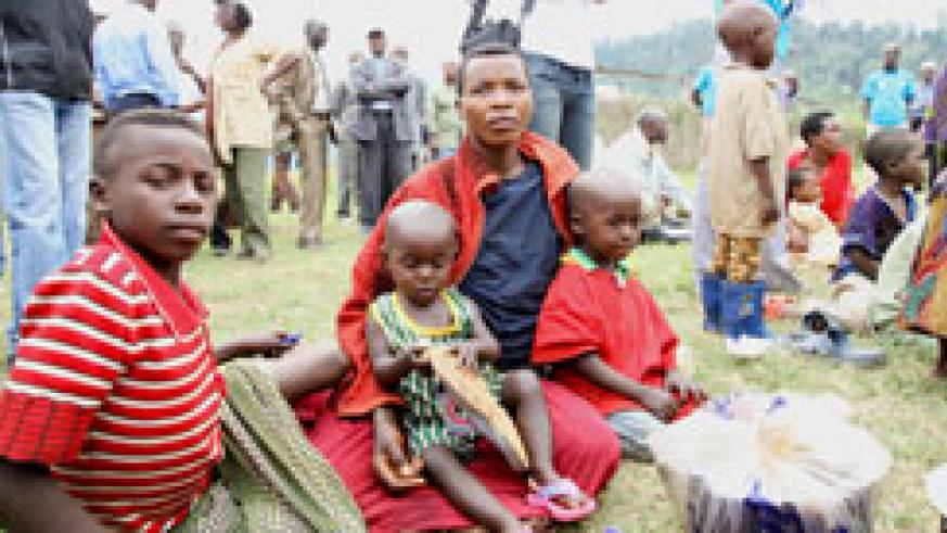 Refugees at the Kiziba Refugee Camp have complained of insufficient food supply (File Photo)
