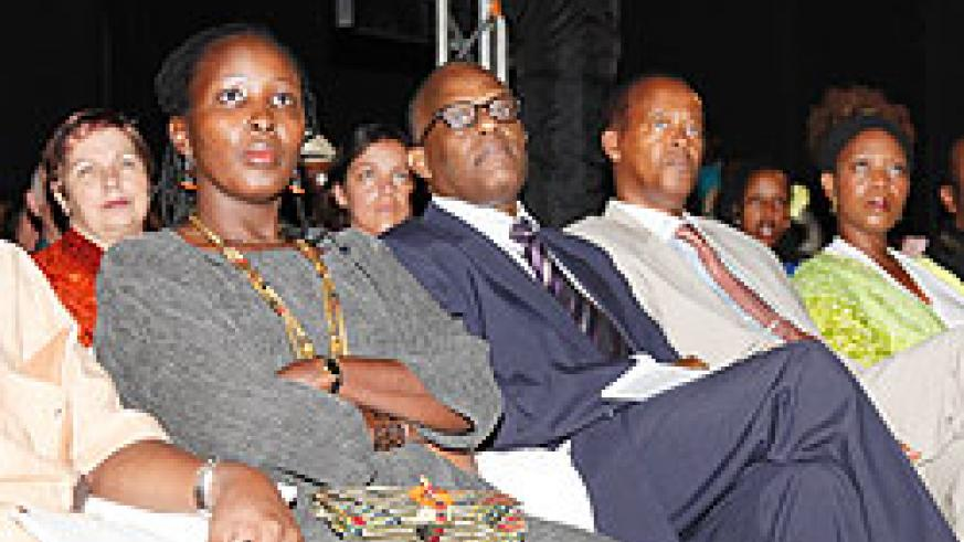 Viewers during the official opening of the 7th edition of the Rwanda film festival over the weekend (File Photo)