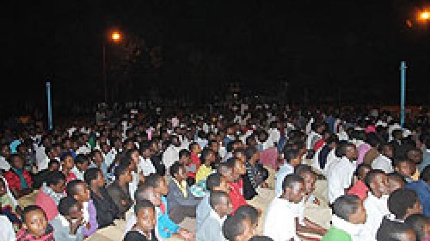 Students at one of Kizito Mihigo's concerts. The New Times /Courtesy photo