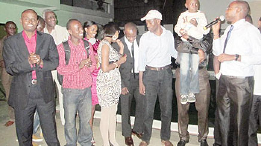 The youngest actor in Kinyarwanda applauded during the screening at The Manor Hotel. The New Times / D.Umutesi