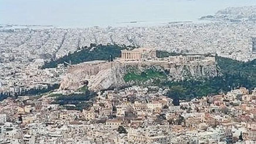 The Acropolis dominates the city of Athens