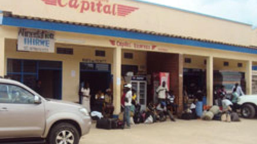Student stranded at a travel agency booking office. Students in Karongi district have decried a transport glitch in the area The NewTimes Sam Nkurunziza