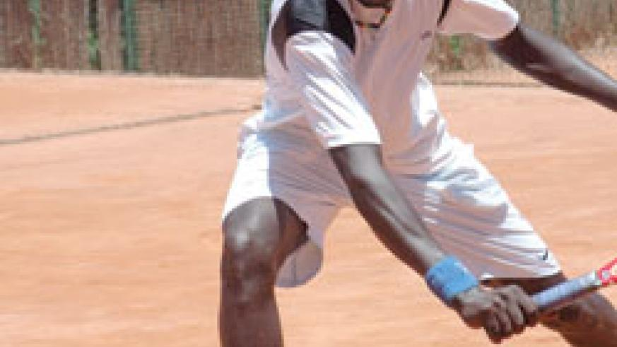 Jean Claude Gasigwa in action during a past tournament. The New Times/File Photo