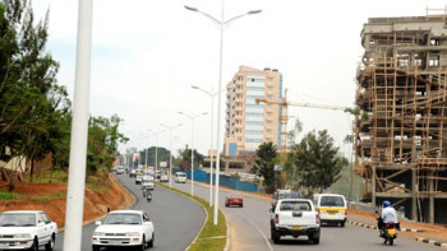 A street in the Central Business District of Kigali City. The New Times/File.