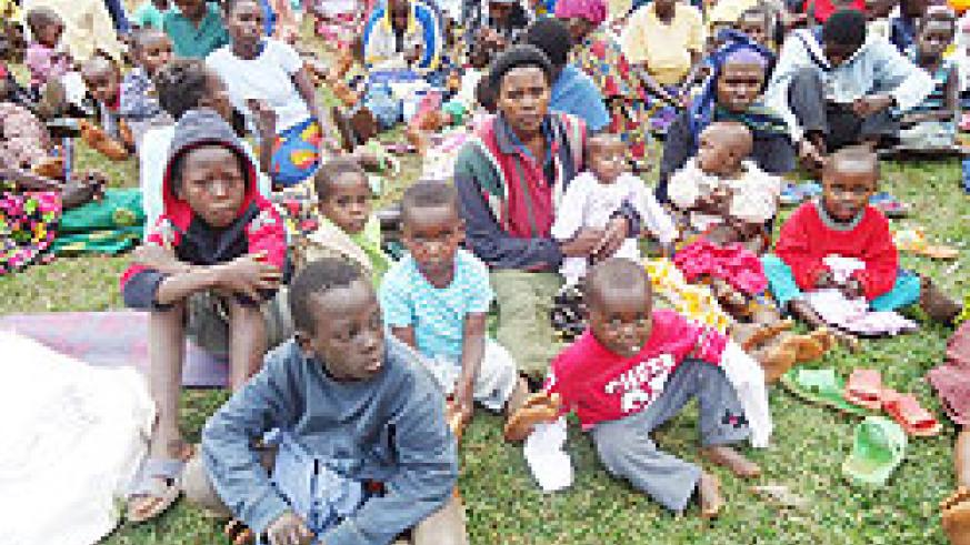 Some of the returnees who recently came back to Rwanda from the DRC. The New Times / File.