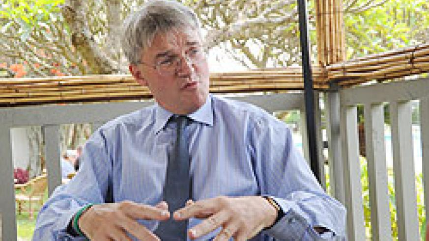 British Minister, Andrew Mitchell MP during the interview. The New Times John Mbanda.