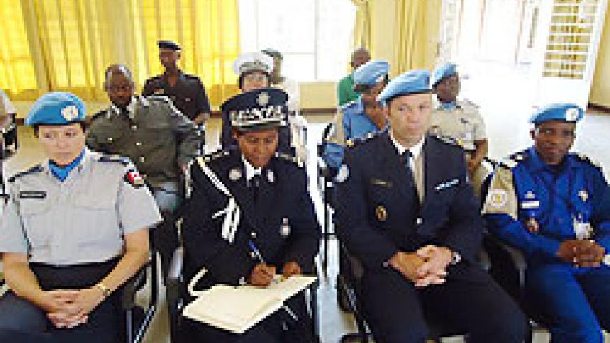 Police officers start GBV investigation course yesterday.The New Times Bonny Mukombozi.