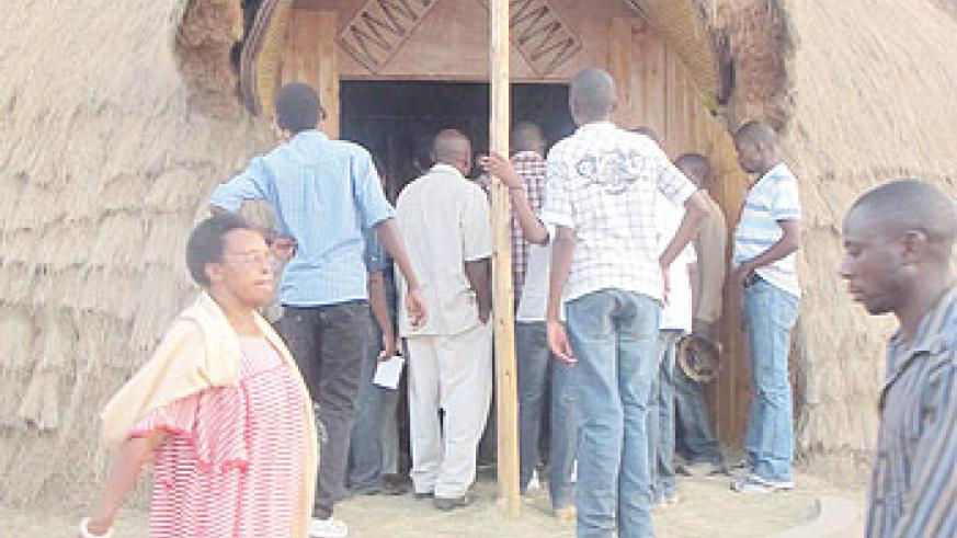 Culture represented: A traditional Rwandan house was built at the Expo grounds.
