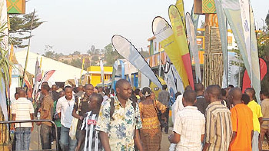 The main entrance to the Expo is flocked with people. Photos/The New Times/ D.Umutesi