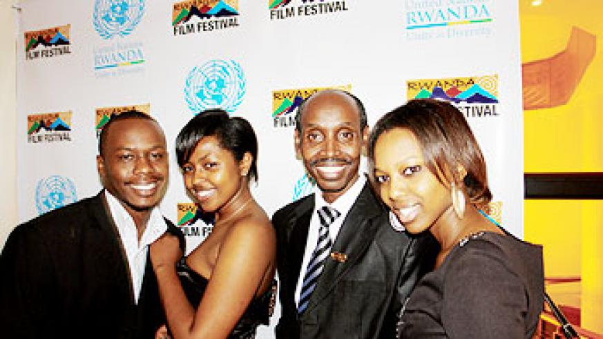 Hillywood actors and actresses at the event. The New Times /A. Ndungutse.