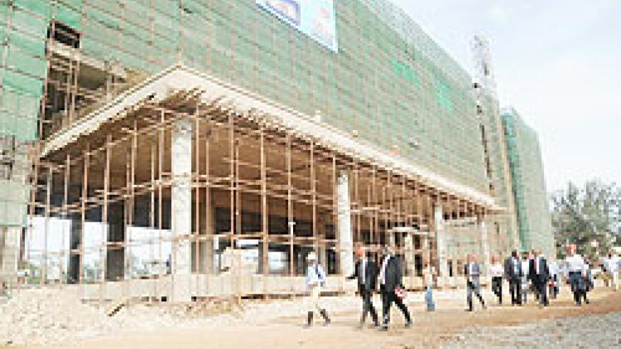 Marriot Hotel, which is under construction in Kigali. The New Times/J. Mbanda.