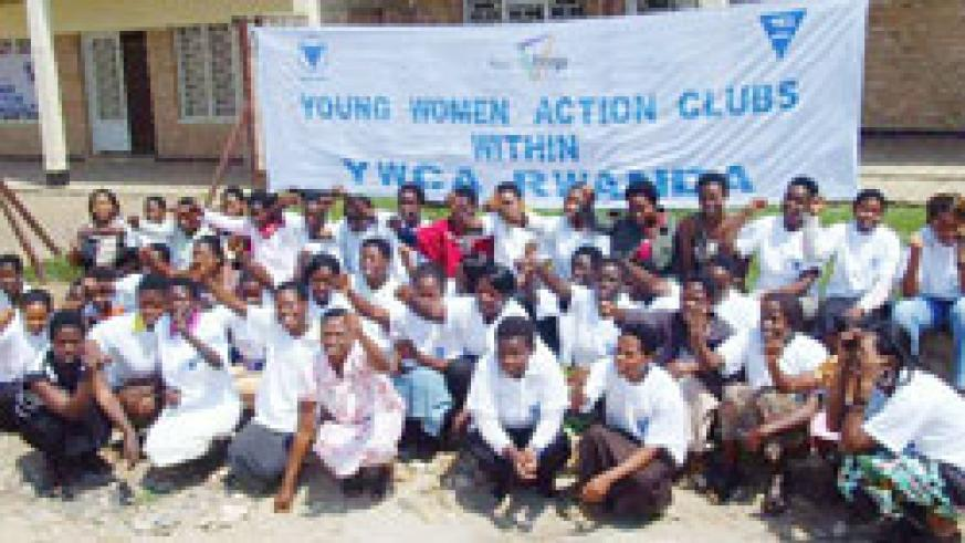 Young women demonstrate their commitment to change and engage in action. The New Times. Daniel Sabiiti