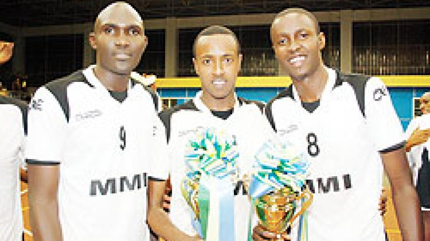 Flavien Ndamukunda (R) is one of the eight suspended players. The New Times/File.