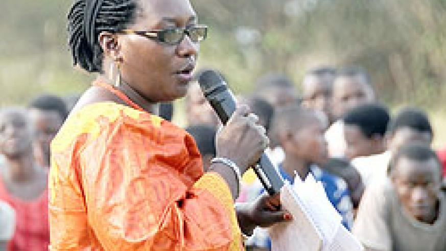 Kicukiro District Vice Mayor Florence Uwayisaba has announced the construction of a housing project for Genocide survivors. The New Times File.