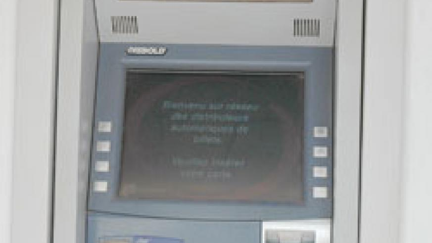 An automated teller machine in Kigali
