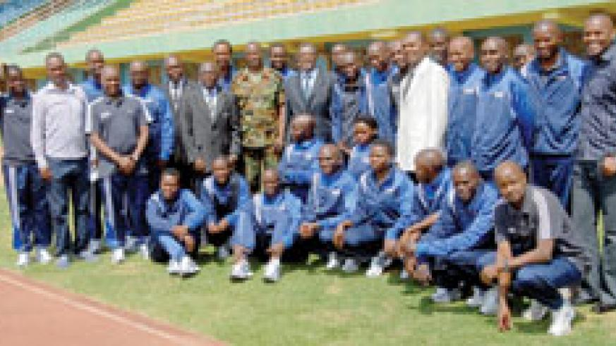 Participants of the MA referee course which began yesterday at Amahoro stadium. The New Times / B. Mugabe