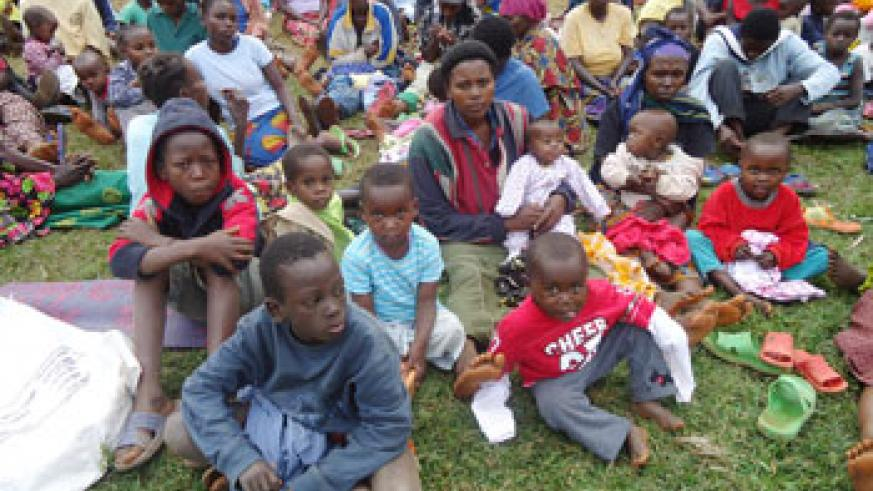 Some of the returnees who came back recently from the DRC