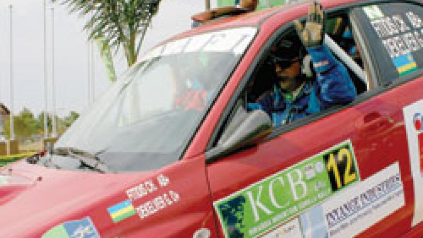 Fitidis waves to the crowd during the 2008 KCB Rwanda Mountain Gorilla Rally. The New Times/File