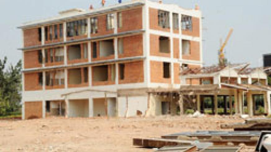 The former Post Office headquarters at the initial stages of demolition. The property will be soon offered to capable developers. The New Times /John Mbanda