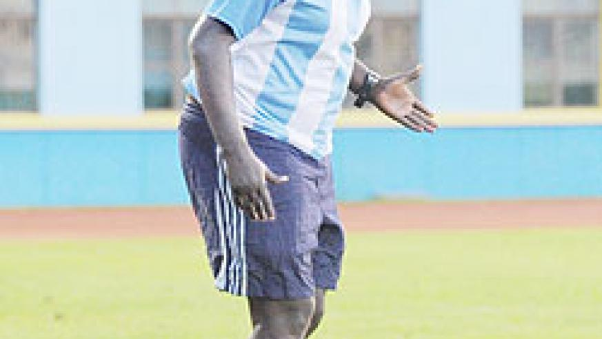 Ntagwabira was at the helm as Kiyovu beat Rayon to lift the Primus Cup. The New Times/File.