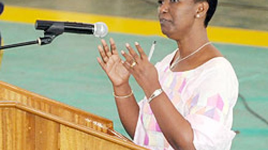 Gender Minister Aloysia Inyumba. The New Times File.