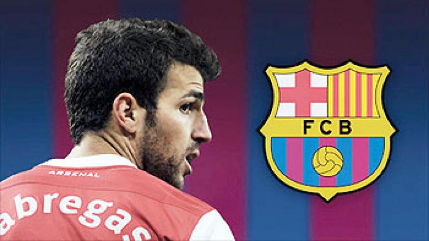 Fabregas is expected to complete a £35m move to Barcelona by the weekend. Net photo
