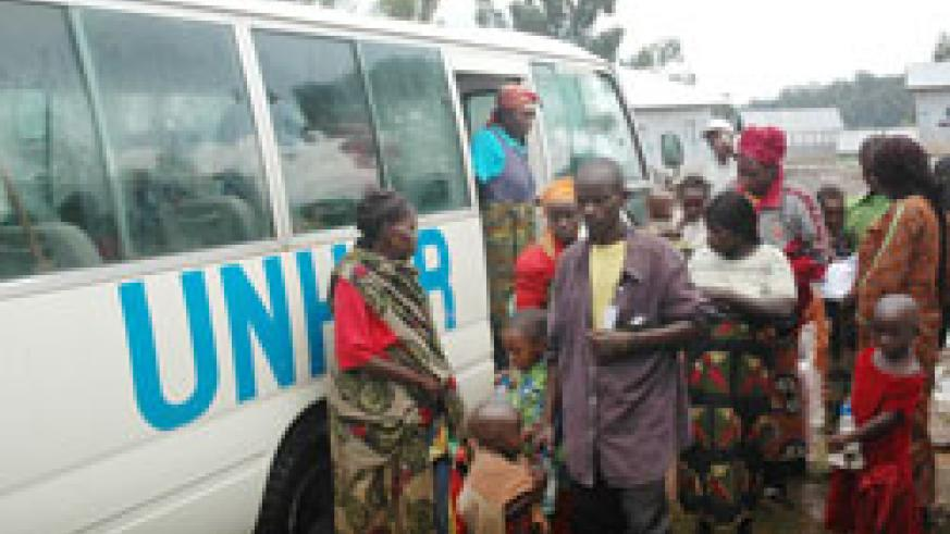 Returnees from DRC at the Nyagatare transit Camp in Rusizi before reintergration.  The New Times /File